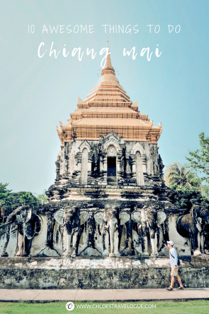 Planning a trip to Northern Thailand? Check out this 10 Awesome Things to Do in Chiang Mai. The guide includes what to do, where to eat & drink. | www.chloestravelogue.com #ChiangMai #Thailand #ThailandInsider #TemplesinChiangMai #nightbazaar #SundayMarket #Thaifood #satanlatte #KhaoSoi