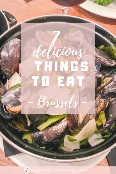 7 Things to Eat in Brussels - Where to Eat | #BelgianPralines #BelgianChocolate #BelgianBeer #BelgianTrappistBeer #BestWaffles #MoulesFrites #BestFrites #BelgianMeatballs #Brussels #Bruxelles #Europe #Food #Belgium #NationalDish | www.chloestravelogue.com