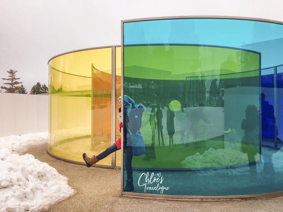 Kanazawa Winter | 21st Century Museum of Contemporary Art - The Swimming Pool. #Kanazawa #Japan #ContemporaryArt | CHLOESTravelogue.com
