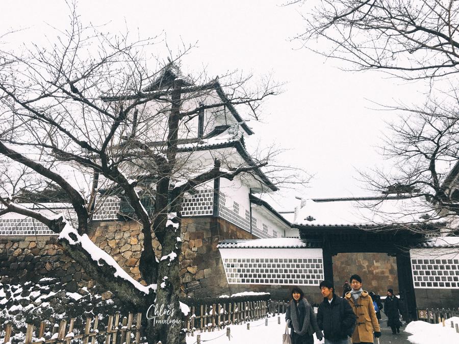 Things to Do in Kanazawa: Kanazawa Itinerary Day 2 | Enjoy strolling snow-covered Kanazawa Castle. #Kanazawa #Japan #winterinjapan #Kenrokuen #KanazawaCastle #edo | CHLOESTravelogue.com