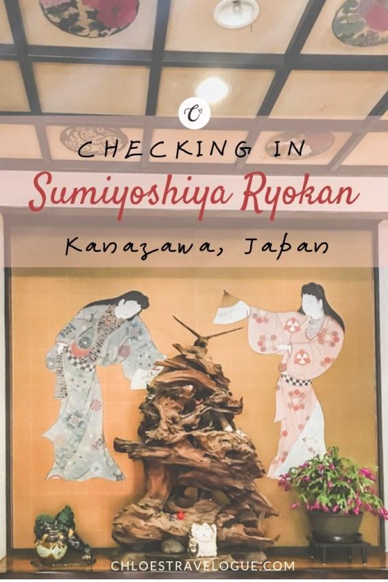 Kanazawa Hotel Review - Sumiyoshiya Ryokan 1