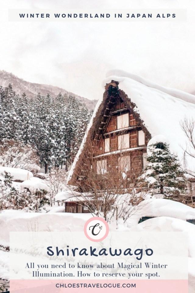 Magical Winter Wonderland in Japanese Alps: Shirakawago Winter Light Up 2019   What to Do & Where to Stay in Shirakawago   How to get to Shirakawago   Alternative Winter Illumination   #Shirakawago #Winter #Japan #Gassho #UNESCOWorldHeritage   chloestravelogue.com