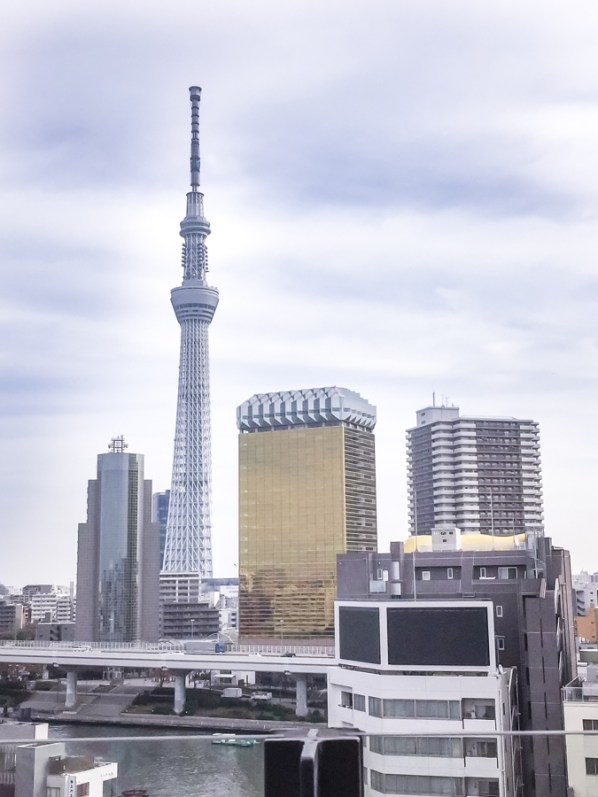 Things to Do in Asakusa   Tokyo Must See: Tokyo Skytree, Nakamise Shopping Street from Asakusa Culture Tourist Information Center   #Asakusa #Tokyo #ThingstoDoinAsakusa #TokyoSkytree #AsahiBeerTower #NakamiseStreet #NakamiseDori
