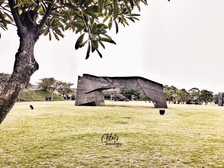 Day trip from Taipei - Juming Museum | Ju Ming Sculpture Series - Taichi Arch (2001) | #Taipei #TaipeiDayTrips #Juming #JumingMuseum #Taiwan #Taichi #Sculpture