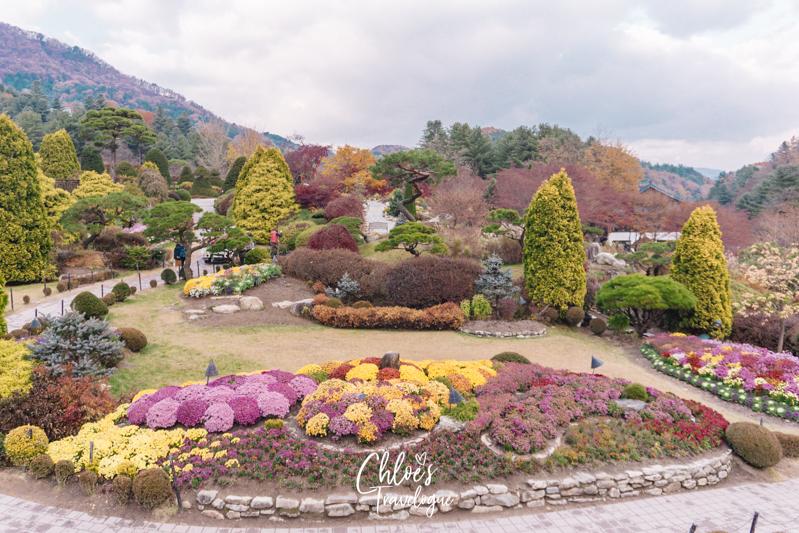 Garden of Morning Calm: Signature Gardens - Sunken Garden | #GardenofMorningCalm #AutumninKorea #Korea #Gapyeong