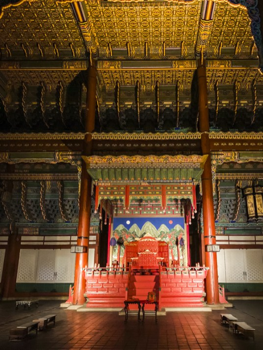 Gyeongbokgung Palace Tour: Geungjeongjeon is the Throne Hall for Joseon kings to handle important state affairs. | #Geungjeongjeon #Gyeongbokgung #VisitSeoul #TravelKorea