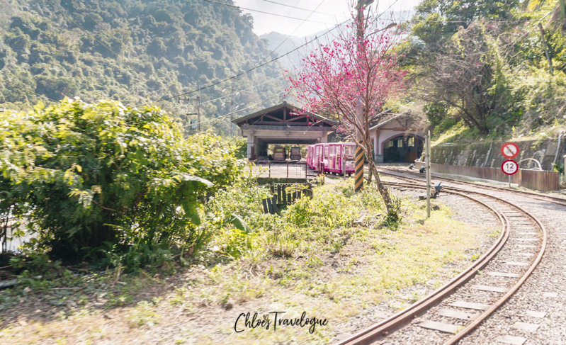 Things to Do in Wulai: Wulai Scenic Train | #WulaiHotSpring #WulaiTaiwan #HotSpringsInTaiwan #thingstodoinWulai #TravelAsia