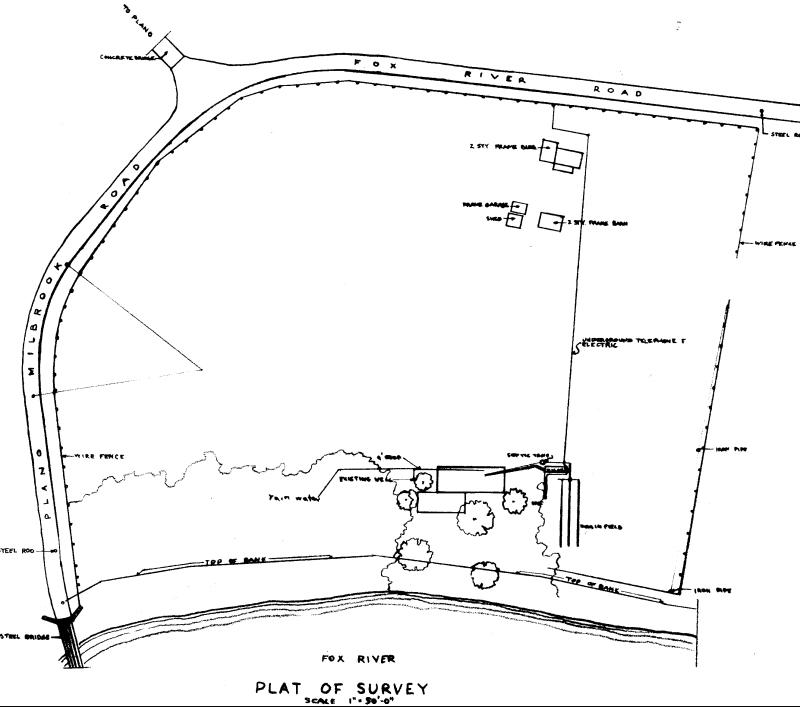 Casa Farnsworth Emplazamiento