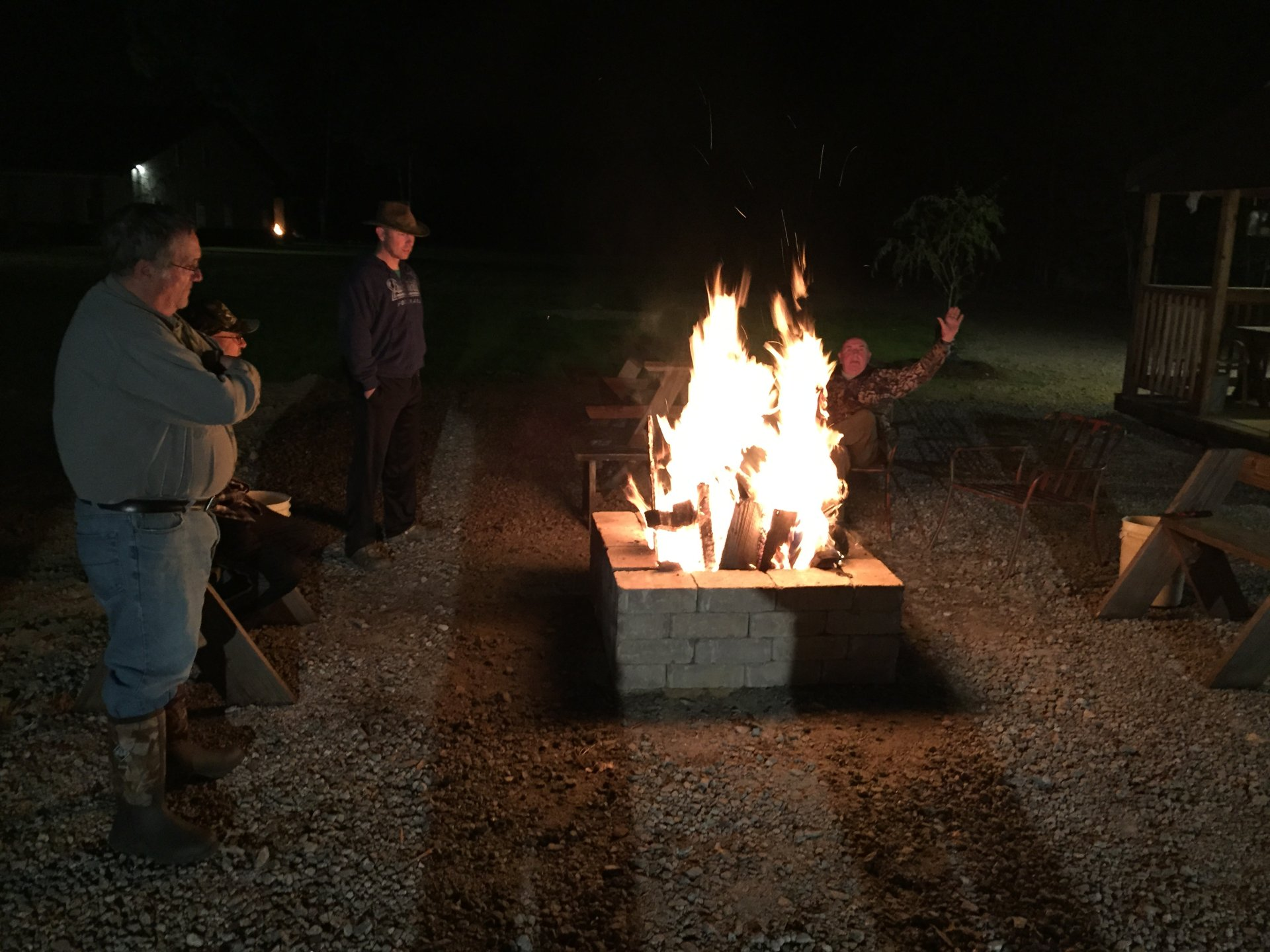 Fire pit-hang out area