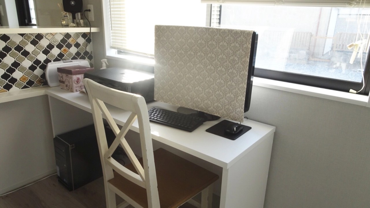 裁縫じょうずで作ったパソコンカバー