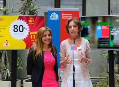 Palema Gidi, subsecretaria de Telecomunicaciones, y Gloria Hutt, ministra de Transportes y Telecomunicaciones