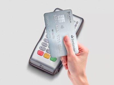 Tarjeta de crédito Santander con chip