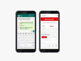 Transferencias por WhatsApp en el Banco Santander de México