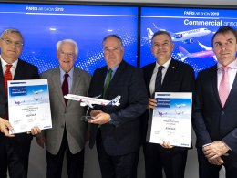 Autoridades de Airbus y JetSMART firman acuerdo para la compra de nuevos aviones