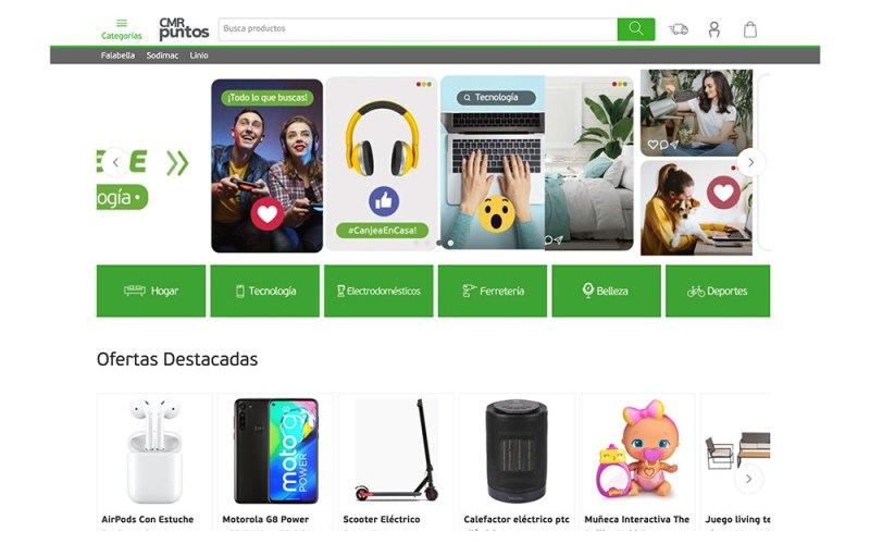 Así es el nuevo sitio web de canje de productos con CMR Puntos