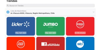 Jumbo, Easy y Santa Isabel en Cornershop
