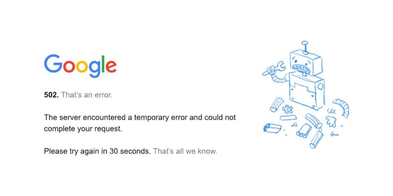 Caída mundial de Gmail, Google, Drive y YouTube
