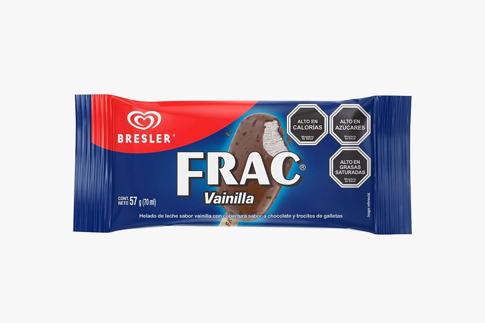 El nuevo helado Frac de vainilla, disponible en formato paleta.
