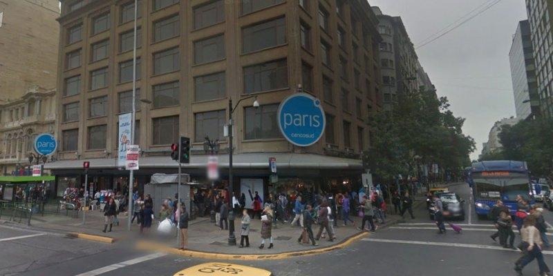 Se cierra la tienda Paris de Alameda con San Antonio, en el centro de Santiago