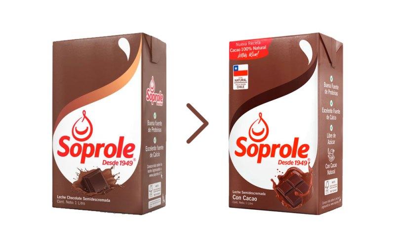 Cambio de la receta de la leche con chocolate Soprole
