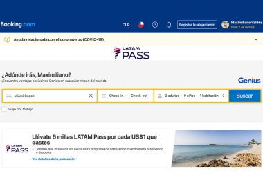Acumulación de Millas LATAM Pass y beneficios Genius con Booking