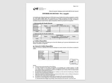 Informe de deuda del sistema financiero CMF