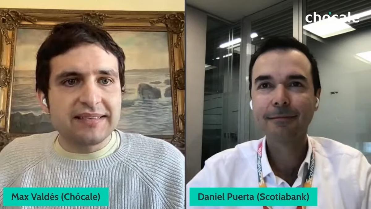 Daniel Puerta, VP de Banca Digital de Scotiabank, conversó con Maximiliano Valdés, editor de Chócale.