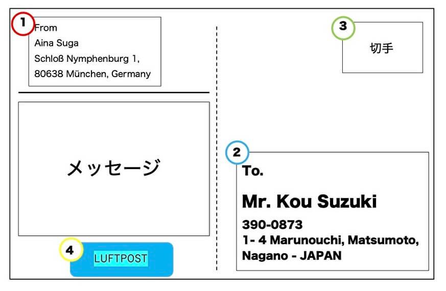 ドイツから日本へ_ポストカード