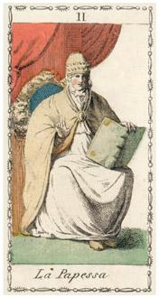 女教皇のタロットカード