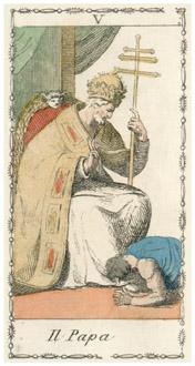 教皇のタロットカード