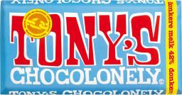 Tony's Chocolonely donkere melk 42% 180gr