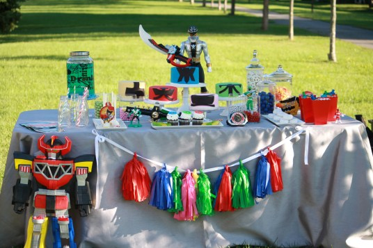 Power Rangers Sweet Table