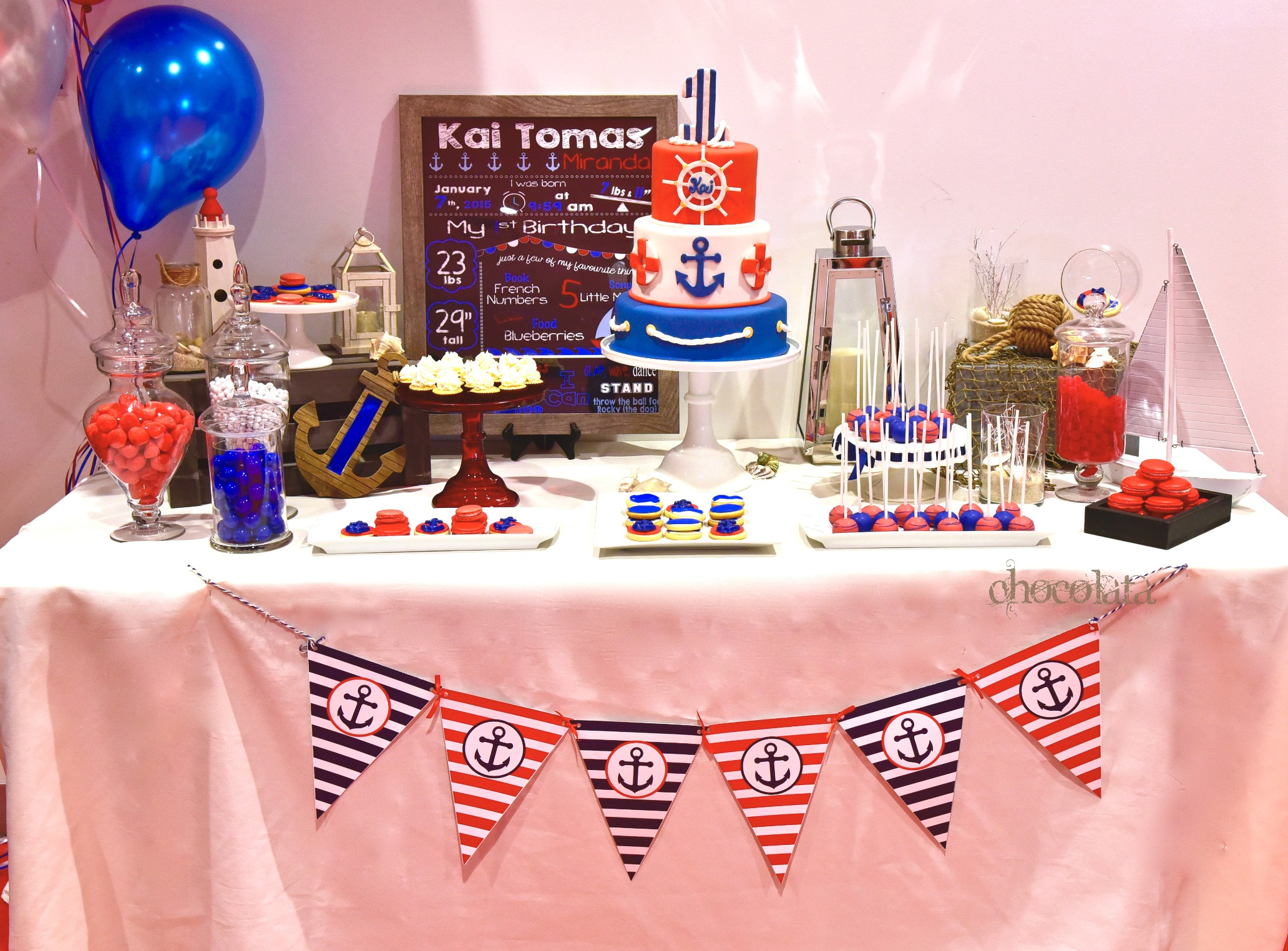 Nautical Theme Sweet Table