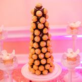 chocolate tower, montreal wedding sweet table