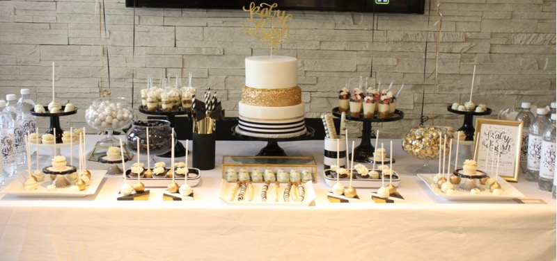 Glam Baby Shower Sweet Table
