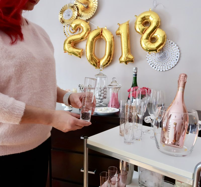 A Stylish Bar Cart for New year's Eve