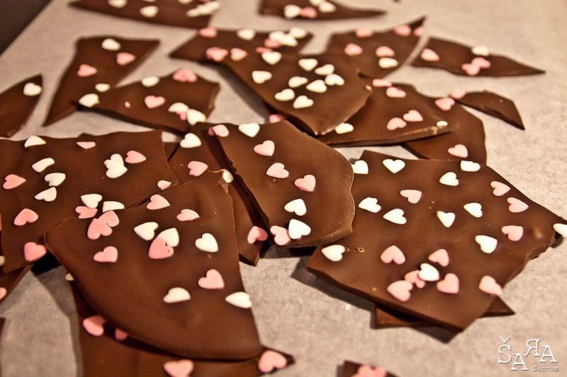 Cobertura de Chocolate em pedaços