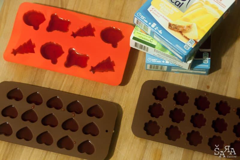formas de gelatina