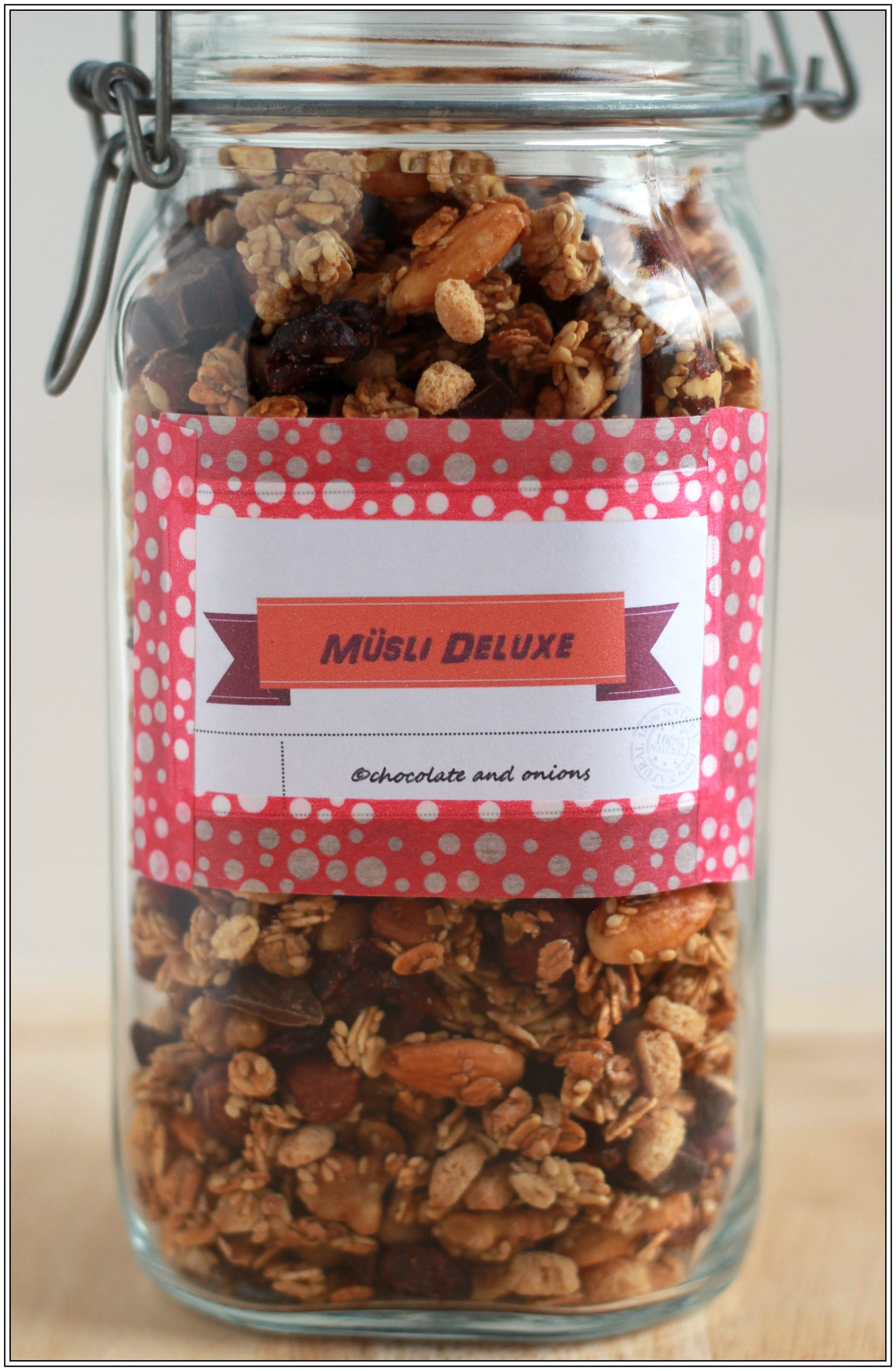 SchokoladenCranberry Msli Geschenke aus dem Glas 4 Chocolate Cranberry Granola