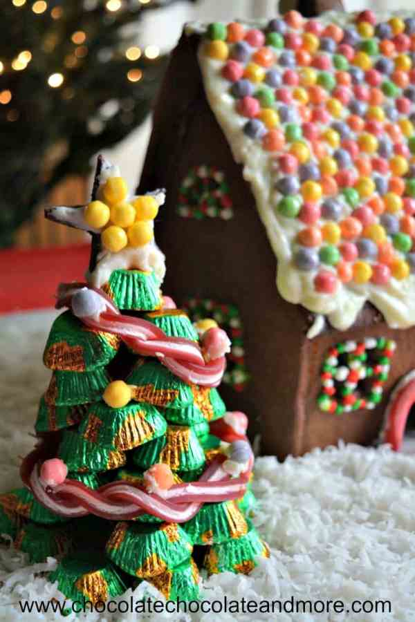 Chocolate Gingerbread House - And