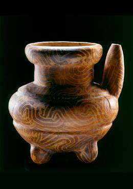 Spouted Vessel Tomb 1, Mound 1, Chiapa de Corzo, Chiapas, Mexico 100 BC-AD 100 Ceramic with Usulutan resist decoration 21 x 18.5 cm