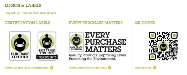 Fair Trade logos from http://fairtradeusa.org/resources/logos-labels