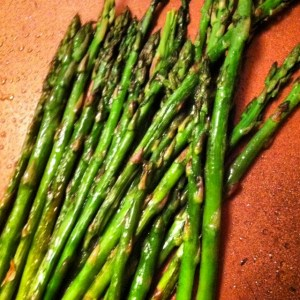 Asparagus sauteed in EVOO with a dash of lemon and sea salt