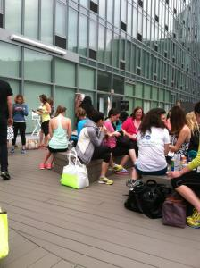 Fitness bloggers meeting and tweeting!