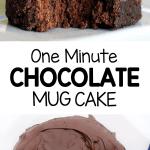 One Minute Vegan Chocolate Mug Cake