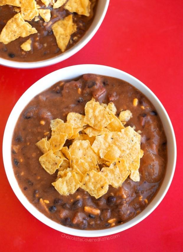 Cheesy Black Bean Enchilada Soup