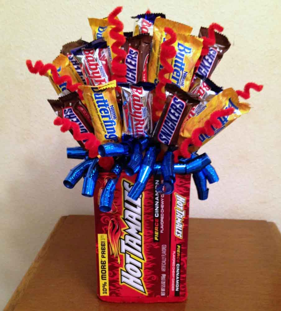 Candy Bouquet - Source: craftyincrosby.com