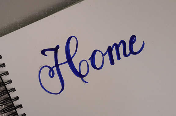 Home - practicing with different fonts