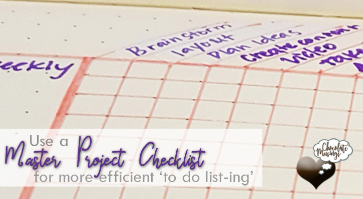 Master Project Checklist More efficient to do list-ing