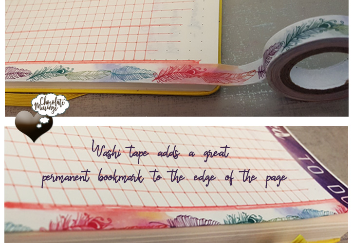 washi tape adds a great permanent bookmark to the edge of the page